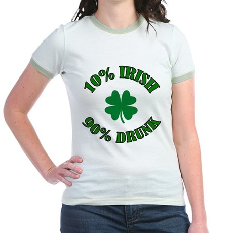 10% Irish #2 Jr. Ringer T-Shirt