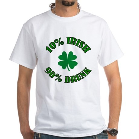10% Irish #2 White T-Shirt