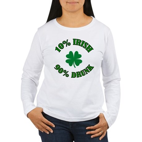 10% Irish #2 Women's Long Sleeve T-Shirt