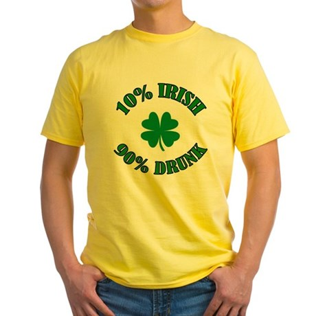 10% Irish #2 Yellow T-Shirt