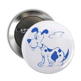 "Blue Spotted Dog 2.25"" Button (10 pack)"