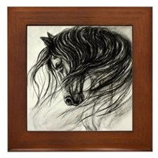Mane Dance art Framed Tile