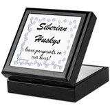 Husky Pawprint Keepsake Box