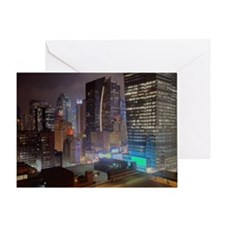 Manhattan highrises Greeting Card