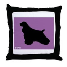 Cocker iPet Throw Pillow