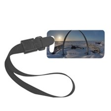 Arctic Ocean Sunset in Barrow, A Luggage Tag