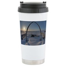 Arctic Ocean Sunset in  Travel Mug