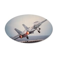 Airplane taking off from USS Wall Decal