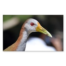 Grey necked wood rail with bri Decal