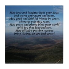 Old Irish Blessing Tile Coaster