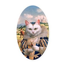 FP316_Cat Princess Oval Car Magnet