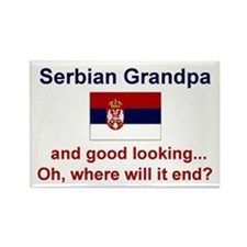 Serbian Grandpa-Good Lkg Rectangle Magnet