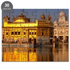 Golden Temple, Amritsar in golden morning l Puzzle