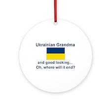 Good Lkg Ukrainian Grandma Ornament (Round)