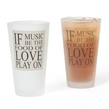 Sign with Shakespeare quote Drinking Glass