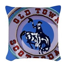 Old Town, Scottsdale, Arizona, Woven Throw Pillow