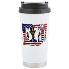 Pocket Flag White Travel Mug