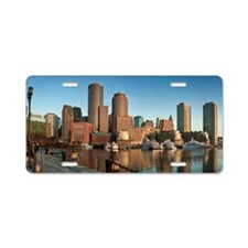 Boston skyline, Massachuset Aluminum License Plate