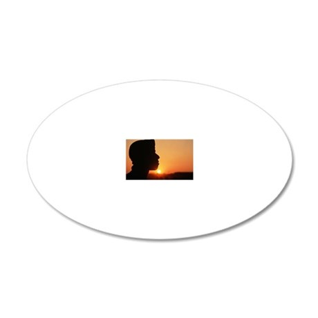 Profile of soldier in front  20x12 Oval Wall Decal