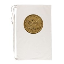 Gold Coin Laundry Bag