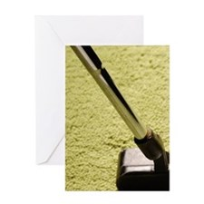 Golf putter and ball Greeting Card