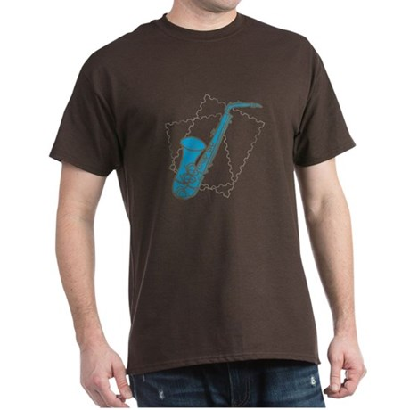Blue Saxophone Dark T-Shirt