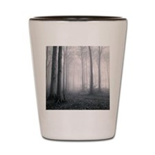 Misty woodland within oak trees, Glouce Shot Glass