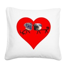 doggies Square Canvas Pillow