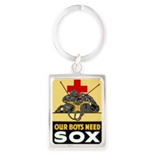 Our Boys Need Sox vintage WWI po Portrait Keychain