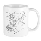 Helicopter Schematic Small Mug