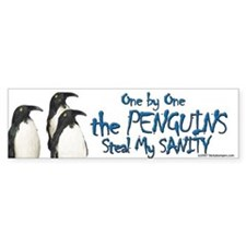 Penguins Steal Sanity Bumper Bumper Sticker