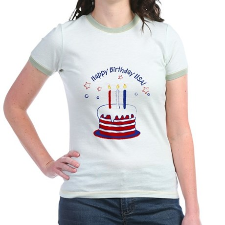 Happy Birthday USA Jr. Ringer T-Shirt