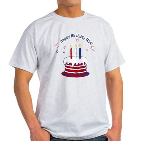 Happy Birthday USA Light T-Shirt