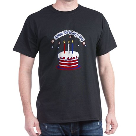 Happy Birthday USA Dark T-Shirt