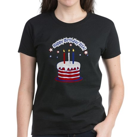 Happy Birthday USA Women's Dark T-Shirt