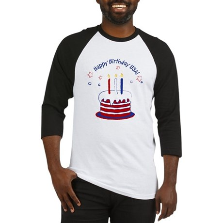 Happy Birthday USA Baseball Jersey