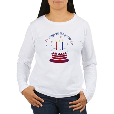 Happy Birthday USA Women's Long Sleeve T-Shirt