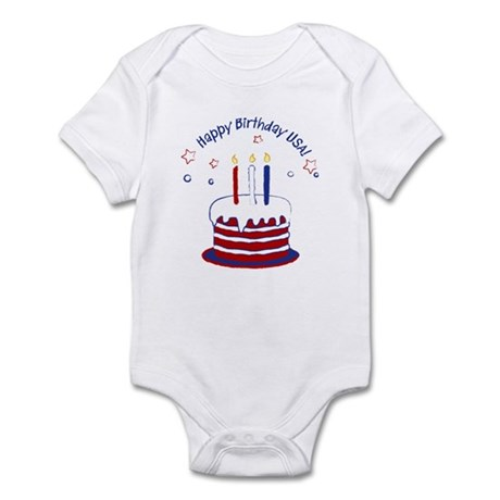 Happy Birthday USA Infant Bodysuit