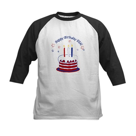Happy Birthday USA Kids Baseball Jersey