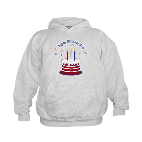Happy Birthday USA Kids Hoodie