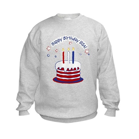 Happy Birthday USA Kids Sweatshirt