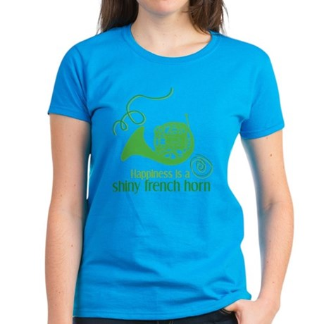 Shiny French Horn Women's Dark T-Shirt
