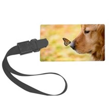 Butterfly on Golden Retriever no Luggage Tag