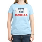 Vote For ISABELLA Women's Pink T-Shirt