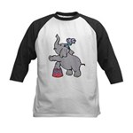 Circus Elephant Kids Baseball Jersey