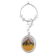 Mont St Michel, France Oval Wine Charm