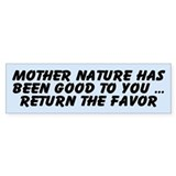 MOTHER NATURE Bumper Car Sticker