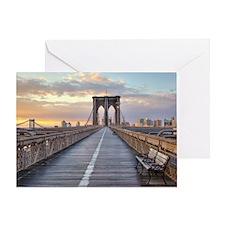 Brooklyn bridge, New York City. Greeting Card