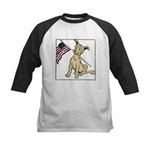 American Dog Kids Baseball Jersey