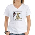 American Dog Women's V-Neck T-Shirt